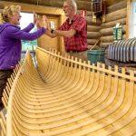 De binnenkant van de kano is klaar