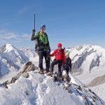 Als berggids op een alpentop