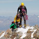 Aan het werk als berggids; met klanten op de top