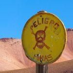 Niet opgeruimd mijnenveld in de Andes